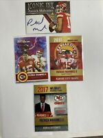 Patrick Mahomes 4 card Rookie Lot Including The Famous Iconic Ink Facsimile Auto