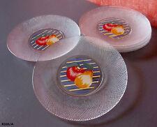 6 assiettes à dessert en verre années 70/80.