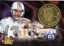 RARE 1996 DAN MARINO DOLPHINS PINNACLE MINT LIMITED EDITION GOLD COIN CARD !