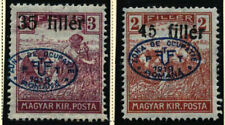 Hungary 1919 (5) 1st Debrecen.  Double overprint.  In protective covers