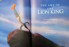 The Art Of The Lion King Christopher Finch 1994 Hardcover 1St Edition Disney!🔥