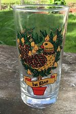 Replacement Glass Tumbler Twelve Days of Christmas 1st Day 12oz Partridge