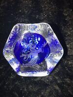 Fantasia Sorcerer Mickey Mouse Arribas Disney Glass Blue RARE Excellent