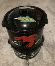 Vintage Speckled Clam Bake Lobster Pot
