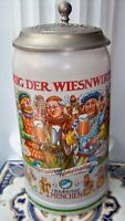 Bierkrug Oktoberfest Wiesn-Wirte-Festkrug, 2016 mit Zinndeckel + Zertifikat