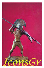 Hoplite With A Spear Battle Of Marathon Bronze Ancient Museum Replica Greek