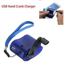 Usb Hand Crank Phone Charger Camping Backpack Survival Gear Emergency Tool