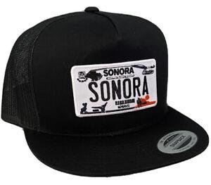 SONORA  MEXICO HAT MESH TRUCKER BLACK   SNAP BACK ADJUSTABLE  NEW