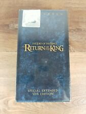 The Lord Of The Rings Return Of The King Widescreen VHS Extended Edition SEALED