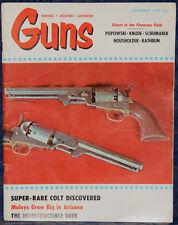 Magazine *GUNS* September 1964 !! U.S. RIFLE Model 1841!! **SUHL Enfield RIFLE**