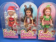 Barbie~Kelly~Chelsea~Holiday~Christmas~2014~Lot of 3~Santa~Reindeer~Elf