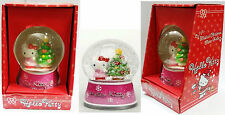 HELLO KITTY SANRIO MUSIC CHRISTMAS WATER GLOBE CON GLITTER CARILLON