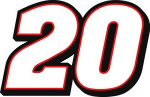 NEW FOR 2021 #20 Christopher Bell Racing Sticker Decal - SM thru XL - Var colors