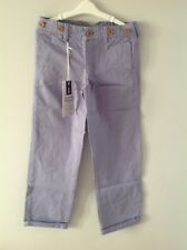 Lucas Frank boys chinos - age 7-8 mid blue/lavender? New