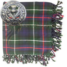 "Highland Kilt Fly Plaid Mackenzie Tartan Di Lana 48""x 48"" Cardo Spilla Antico 3"""