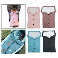 Baby Newborn Swaddle Blanket Knit Sleeping Bag Stroller Wrap Baby Kids