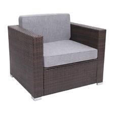 Outdoor Armchair Poly Rattan Wicker Brown Sofa Chair Garden Furniture