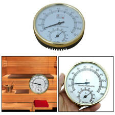 For Sauna Room Stainless Steel Thermometer Hygrometer Temperature Humidity  ghh