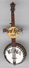 Hard Rock Cafe KONA HAWAII 2002 BANJO GUITAR with HRC Logo Neck PIN - HRC #4058