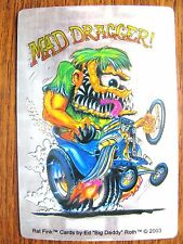 2 Rat Fink DRAG RACE Decals Hot Rat Rod Car Sticker  Ed ' Big Daddy ' Roth 2003