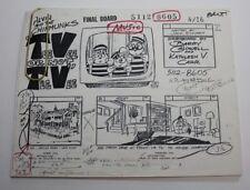 """ALVIN & THE CHIPMUNKS / 1986 TV Series Storyboards Script """"Teevee or Not Teevee"""""""