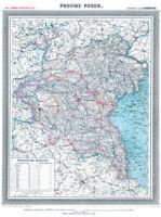 Provinz Posen 1905- Historische Karte (Reprint)