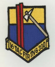 USAF patch 16 Tactical Fighter training squadron F16A/B Hill AFB