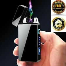 Windproof USB Touch Dual Arc Pulse Plasma Lighter Electric Rechargeable Lighters