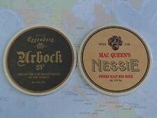 Beer Coaster ~ Schloss Eggenberg Urbock 23 ~ Mac Queen's Nessie Whiskey Red Bier