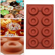 Silicone Doughnut Ice Mould Chocolate Cake Donut Muffin Mold Baking Pan Tray
