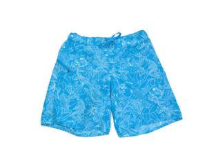 Patagonia Shorts Blue White Floral Rear Zip Pocket Boardie Girls Size XL