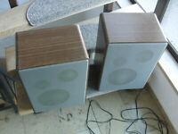 Paar  3 Wege Lautsprecher  Boxen Telefunken TL 710 mit Gebrauchsspuren