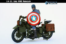 ZY TOYS 1/6 WWII U S ARMY MOTORCYCLE FOR HOT TOYS CAPTAIN AMERICA  New Dj01