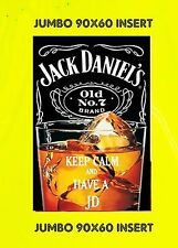 KEEP CALM AND DRINK JD JACK DANIELS STYLE JUMBO FRIDGE MAGNET BIRTHDAY NO P&P