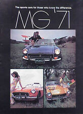 1971 MG MGB ORIGINAL Vintage Fold out Ad  5+= FREE SHIP CMY STORE GREAT ADS