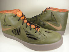 Nike Lebron X NSW Lifestyle Dark Loden Gum Dark Brown Orange SZ 13 (604826-300)