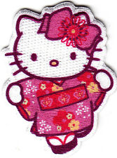 HELLO KITTY w/PINK HAIR BOW - IRON ON PATCH - CARTOON CHARACTER, TV