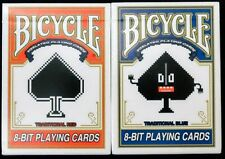 8-Bit Traditional 2 Deck Set Pixelated Bicycle Playing Cards Poker Size USPCC