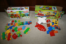 Lego Duplo Set Lot 10590 Airport & 10558 Number Train Counting - T915