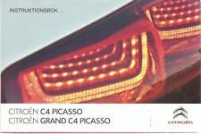 CITROEN C4 PICASSO + GRAND PICASSO Instruktionsbok 2013 Handbok Handbuch BA