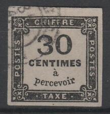 "FRANCE STAMP TIMBRE TAXE N° 6 "" CHIFFRE TAXE 30c NOIR "" OBLITERE TB  N309"