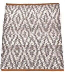 2x3 Ft Handmade Rug Traditional Mat Gray & White Door Mat Living Room Decor Rug