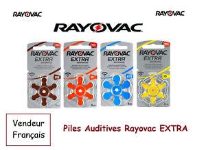 Piles boutons auditive Rayovac 1,45V 10/13/312/675 sans mercure, Qualité Pro