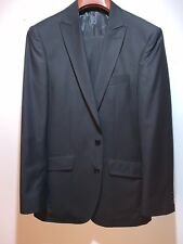 Vincenzi Suit Black 38R Super 150's Made in Italy Perfect Condition