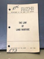 ORIGINAL FM 27-10 The Law Of Land Warfare Manual 1956 (dr4)