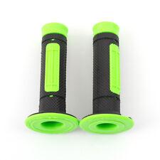 22mm Green/Orange Universal Motorcycle Handle Bar Grips Rubber For ATV Pit Bike