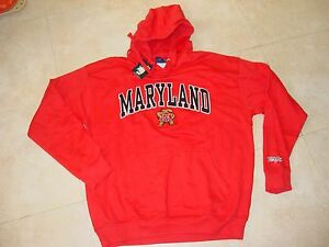 UMD TERPS Maryland TERRAPINS Hooded EMBROIDERED Sweatshirt NEW  XXLarge XXL  2XL