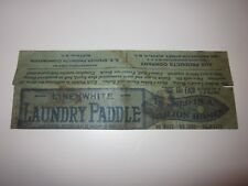 vintage Linenwhite Laundry Paddle envelope ADA Products Co. Buffalo, NY