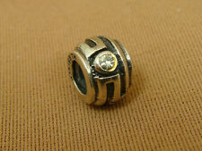 IBB THAI Sterling Silver Small Clear CZ Spacer Charm Bead