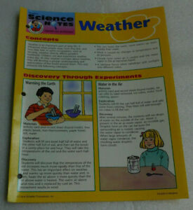 Weather Frank Schaffer Science Notes Hands On Activities Booklet Experiments